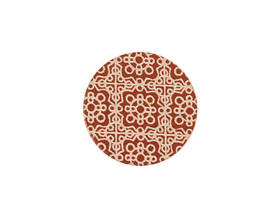 Lillypilly Bronze Baroque Anodized Aluminum Disc 19mm, 24 gauge