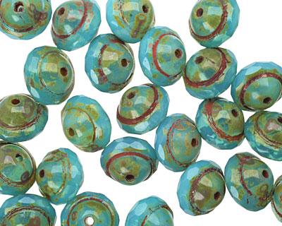 Czech Glass Caribbean Blue UFO 7x9mm