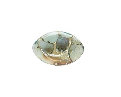 A Beaded Gift Silvered Light Steel Blue Garden Glass Zulu 13x19mm
