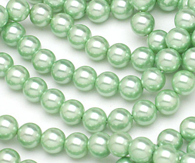 Mint Shell Pearl Round 8mm