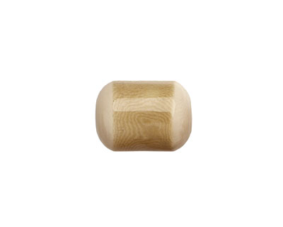 Tagua Nut Parchment Bicolor Barrel 23-24x16-17mm