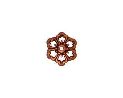 TierraCast Antique Copper (plated) Open Poppy Bead Cap 5x11mm