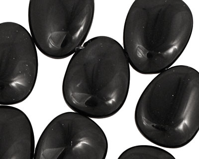 Black Onyx Flat Rounded Teardrop 16x19-20mm