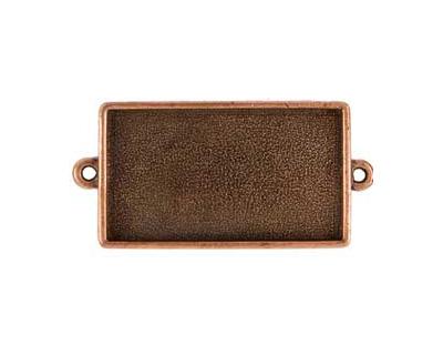 Nunn Design Antique Copper (plated) Grande Rectangle Bezel Link 50x25mm