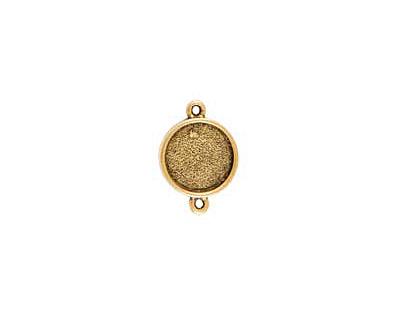 Nunn Design Antique Gold (plated) Mini Circle Frame Link 20x15mm