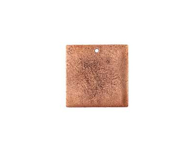 Nunn Design Antique Copper (plated) Flat Small Square Tag 23mm