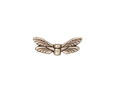 TierraCast Antique Silver (plated) Dragonfly Wings 7x20mm