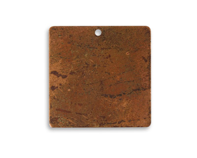 Vintaj Artisan Copper Small Square Altered Blank 24mm