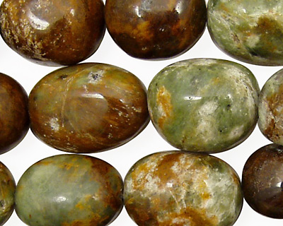 Petrified Green Opal Tumbled Nugget 18-20x13mm