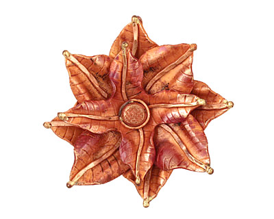 Patricia Healey Copper Stacked Pointed Flower Pendant 55mm