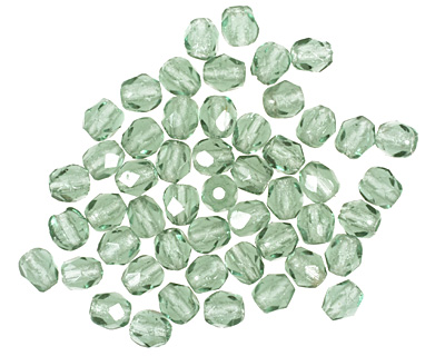 Czech Fire Polished Glass Prairie Green Round 3mm