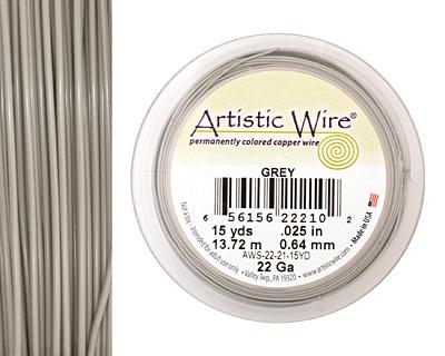 Artistic Wire Grey 22 gauge, 15 yards