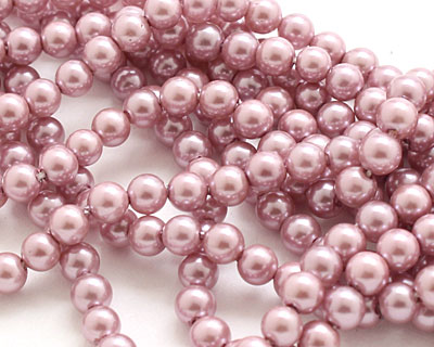 Lilac Shell Pearl Round 4mm