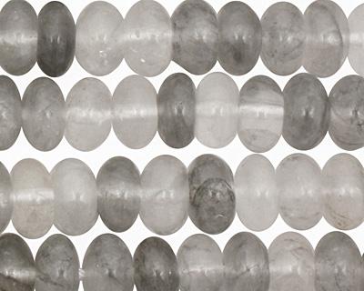 Natural Silver Quartz Rondelle 5x8mm