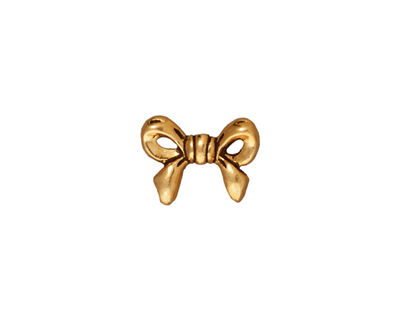 TierraCast Antique Gold (plated) Bow Bead 10x14mm
