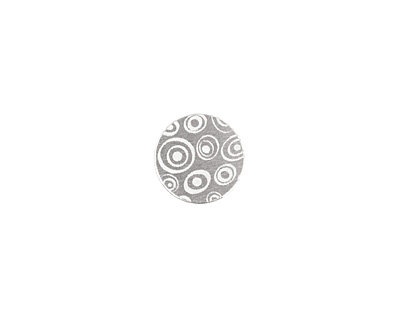 Lillypilly Silver Groovy Circles Anodized Aluminum Disc 11mm, 22 gauge