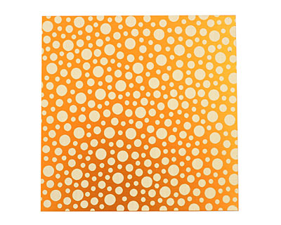 Lillypilly Orange Scattered Dots Anodized Aluminum Sheet 3