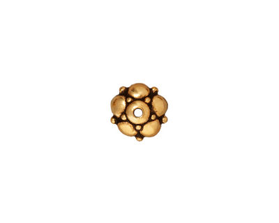 TierraCast Antique Gold (plated) Eastern Bead Cap 4x10mm