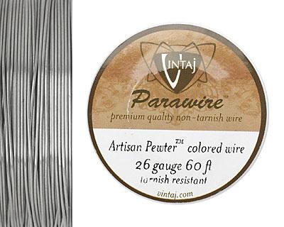Vintaj Pewter Parawire 26 gauge, 60 feet