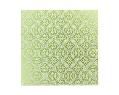 Lillypilly Lime Green Doily Anodized Aluminum Sheet 3