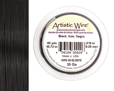 Artistic Wire Black 30 gauge, 50 yards