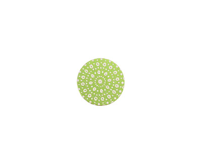 Lillypilly Lime Green Crochet Anodized Aluminum Disc 11mm, 24 gauge