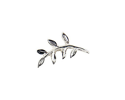 Nunn Design Sterling Silver (plated) Fern Toggle Bar 19x9mm