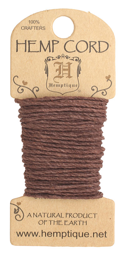 Dark Brown Hemp Twine 20 lb, 20 ft
