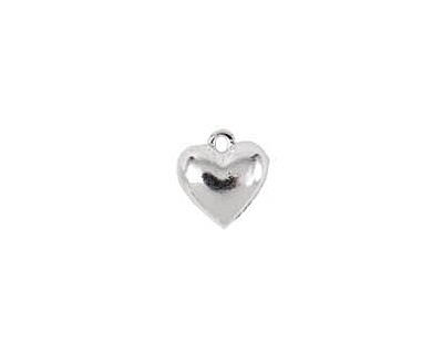 Nunn Design Sterling Silver (plated) Small Heart Charm 11x12mm
