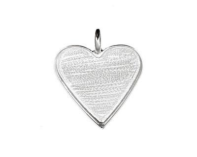 Silver (plated) Heart Bezel 25mm