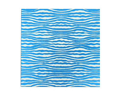 Lillypilly Turquoise Zebra Anodized Aluminum Sheet 3