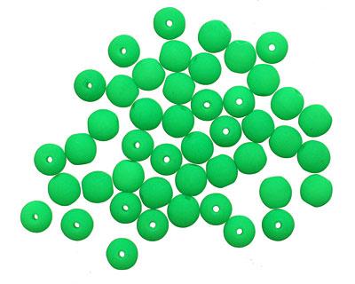 Czech Glass Bright Neon Green Round 4mm