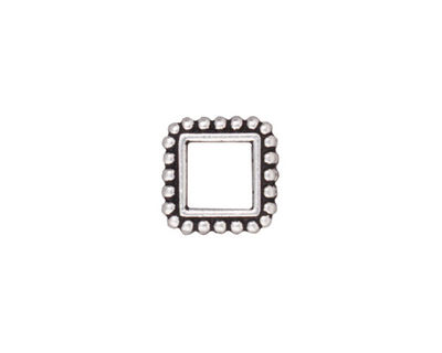 TierraCast Antique Silver (plated) 6mm Square Bead Frame 12mm