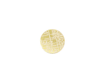 Lillypilly Gold Bamboo Anodized Aluminum Disc 11mm, 22 gauge