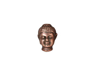 TierraCast Antique Copper (plated) Buddha Bead 13x10mm
