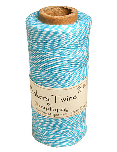 Blue/White Bakers Twine 2 ply, 410 ft