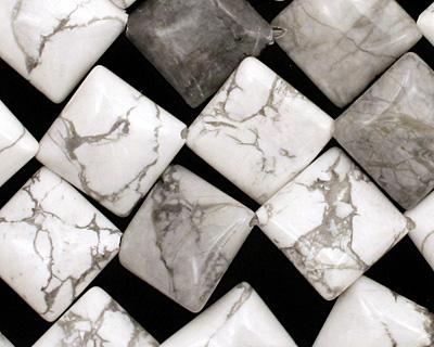 White Howlite Diamond 17mm