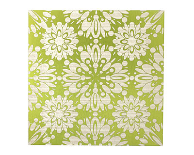 Lillypilly Lime Green Kaleidoscope Anodized Aluminum Sheet 3