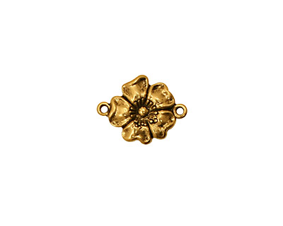 Stampt Antique Gold (plated) Buttercup Connector 14x11mm