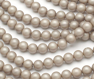 Champagne (matte) Shell Pearl Round 6mm