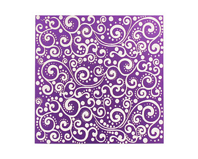 Lillypilly Purple Scrolling Vine Anodized Aluminum Sheet 3