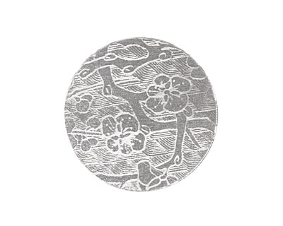 Lillypilly Silver Cherry Blossom Anodized Aluminum Disc 25mm, 22 gauge
