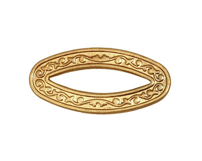 Brass Vine Oval Connector 32x15mm