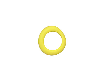 African Recycled Glass Matte Vintage Yellow Dogun Mini Ring 10-14mm