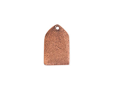 Nunn Design Antique Copper (plated) Mini Flat Tag Tablet 11x17mm