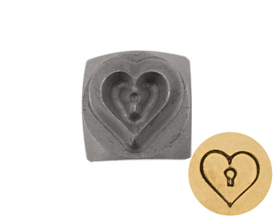 Keyhole Heart Metal Stamp 5mm