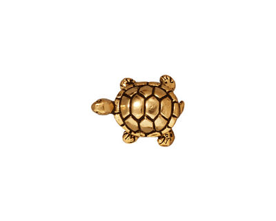 TierraCast Antique Gold (plated) Turtle Bead 15x12mm