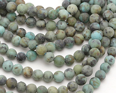 African Turquoise (matte) Round 4mm