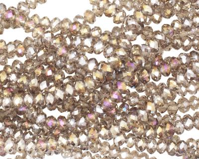 Black Diamond AB Crystal Faceted Rondelle 3mm