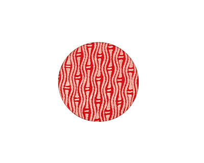 Lillypilly Red Reeds Anodized Aluminum Disc 19mm, 24 gauge